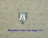Miraculous Rosary Center with Angels Parts Supplies Making