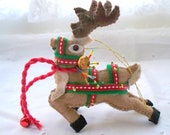 Christmas Felt Ornament Prancer Santa's Reindeer Holiday Decoration