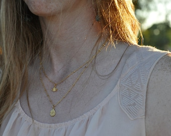 gold compass necklace gold layering necklace compass jewelry sailing necklace boho stocking stuffer layering travel gold compass gold dipped