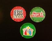 Merry Christmas Manger Magnet Set in Gift Tin