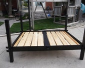 handmade pine slat bed, made to order. SCA  the Blue Owl