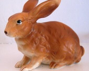 Lefton Rabbit Large Sitting Bown Bunny