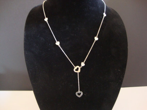 Tiffany Amp Co Sterling Silver Heart Lariat Necklace