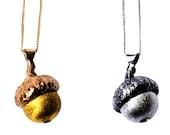 Acorn Necklace Silver