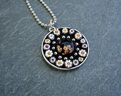 Pushing Daisies-Mosaic glass artisan pendant
