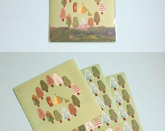 Set of 4 Sheets Norwegian Wood Deco Stickers (P173)