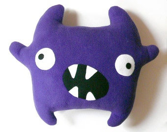 Zumba the monster pattern - Big plush Monster stuffed toy sewing pattern