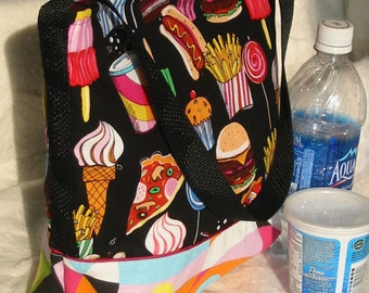 Insulated Lunch Bag in multicolor and mod Fun Food
