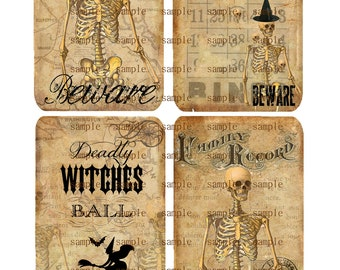 Instant Download - Halloween 2-  Digital Download - Printable  Digital Collage Sheet