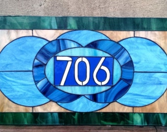 """Stained glass Transom - """"Traditional Shapes"""" (TW-30)"""