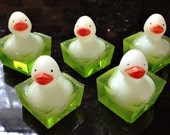 Grab Bag of Limited Edition Mini-Glow Duckies Halloween Soaps - Set of 5 Per Bag
