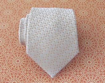 Mens Ties. Necktie Beige and Orange Silk Tie