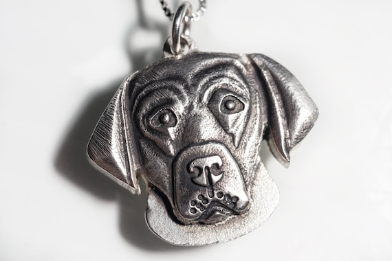 Labrador Retriever Necklace Jewelry Sterling Silver Pendant Personalized