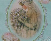 0125P... ...PRINTED CARD.... Beautiful Victorian Bride Note Card Chic