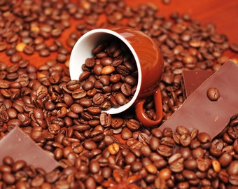 Coffee Chocolate Flavored Coffee 8 ounces Whole Bean or Ground free