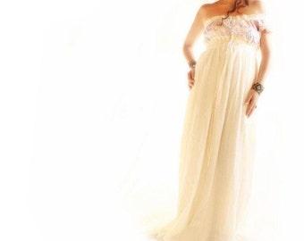 Minerva one shoulder Grecian Goddess maxi dress Mexican party wedding