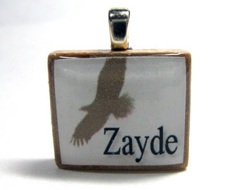 Jewish Scrabble tile - Zayde - Grandfather - with soaring eagle