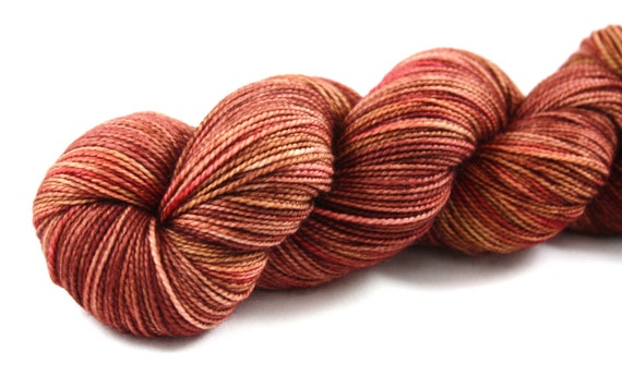 Orion--hand dyed sock weight yarn, 2 ply merino, cashmere, nylon (400yds/100gm)