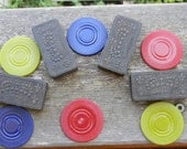 Vintage Game Pieces for Assemblage or Altered Art