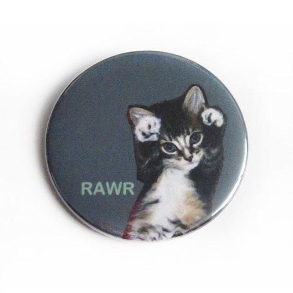items similar to bottle opener keychain or magnet rawr kitten cute cat sweet kitty roar. Black Bedroom Furniture Sets. Home Design Ideas