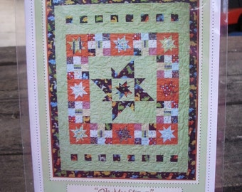 """PDF Pattern Star Quilt Pattern """"Oh My Stars"""" fun and easy to make"""