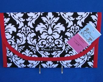 Dandy Damask Diaper and Wipes Case Holder Clutch