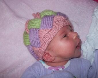 Original Pattern - Entrelac Baby Hat