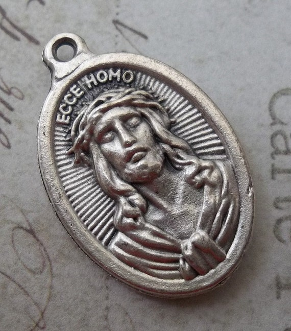 Ecce Homo The Passion Of Jesus Christ & Mater Dolorosa Sorrowful Mother Mary Holy Italian Medal