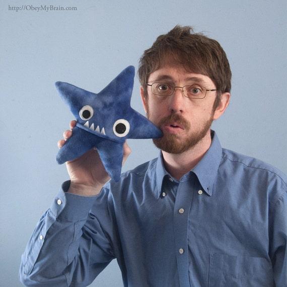 Small Starfish Fleece Plush - Blue Tie Dye