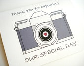 Wedding Photographer Thank You Card