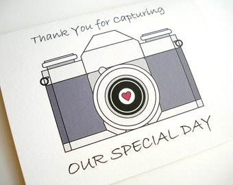Wedding Photographer Thank You Card