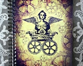 The Queen of Steam Steampunk Notebook - MoonWillowArtStudio