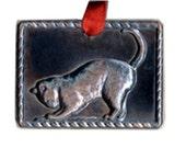 Charming Copper Cat Milagro for Shrines, Ofrendas, Memory Boxes, Scrapbooks