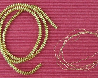 Gold-Plated Medium Diameter Krausbouillion Crinkle Wire - 3 Strands - 2.5 mm - 13 Inches Long