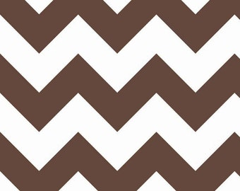 CLEARANCE!!  Riley Blake Designs, Large Chevron in Brown (C330 90) - 1 yard