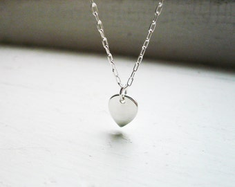 Tiny Petal Necklace in Sterling Silver