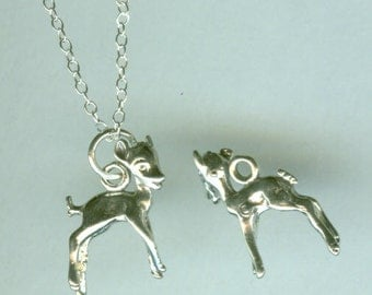 Sterling BAMBI Charm - 3D - Deer, Fawn