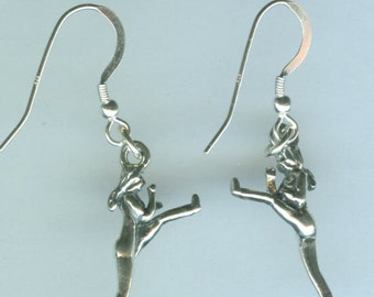 Sterling Silver MARTIAL ARTS Earrings - French Earwires - 3D - Karate, Judo, Sports