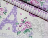 Eiffel of Paris(A)(purple)-Japanese cotton linen blend fabric