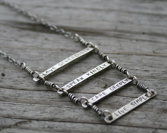 Ladder of Life Statement Necklace