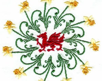 WELSH DAFFODILS. For the 4x4 hoop  Machine Embroidery Designs