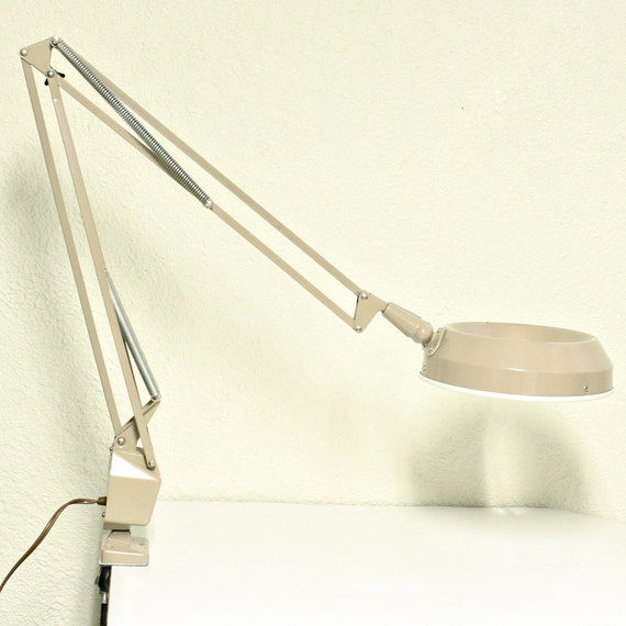 Vintage Lamp Swing Arm Lamp Amplex By Oldcottonwood On Etsy
