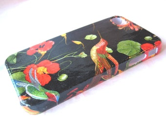 Humming Bird and Red Poppy iPhone 3, 4/4S, 5/5S/SE, 5C, 6 or iPod Touch Cell Phone Cover