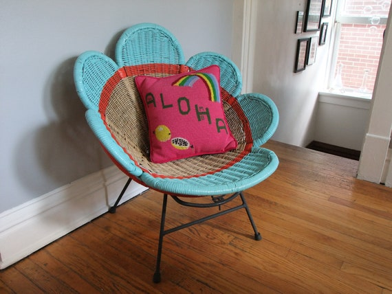 rattan flower chair restyled