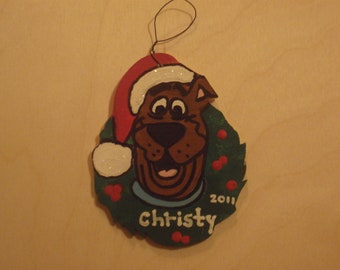 Wood Craft Scooby Doo Ornament - Personalized