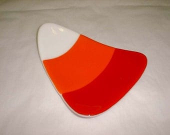 Candy Dish - Candy Corn Holiday Dish - SALE Candy Dish - Fused Glass Candy Dish
