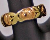 1930's Pink & White 18kt Gold Ring - Personal Collection
