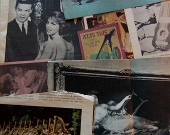 50's and 60's paper ephemera magazine clippings