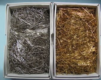 "Sequin Pins for Crafts - HALF POUND box - Gold or Silver 1/2"", 3/4"", 1""- Straight Pins - Craft Pins  - Free USA Shipping"