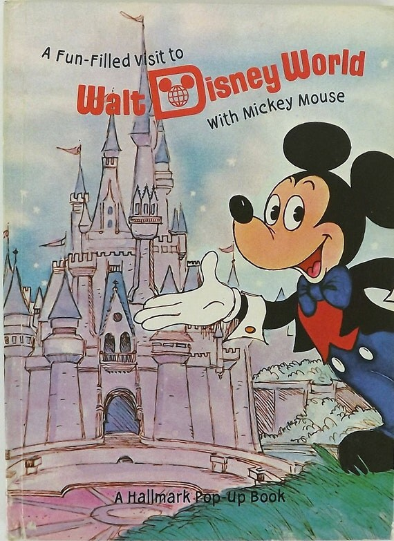 Vintage 70's Pop Up Book, Walt Disney World, Children